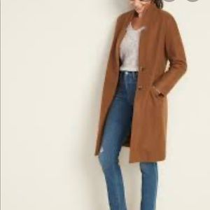 Old Navy Relaxed Soft-Brushed Long-Line Coat